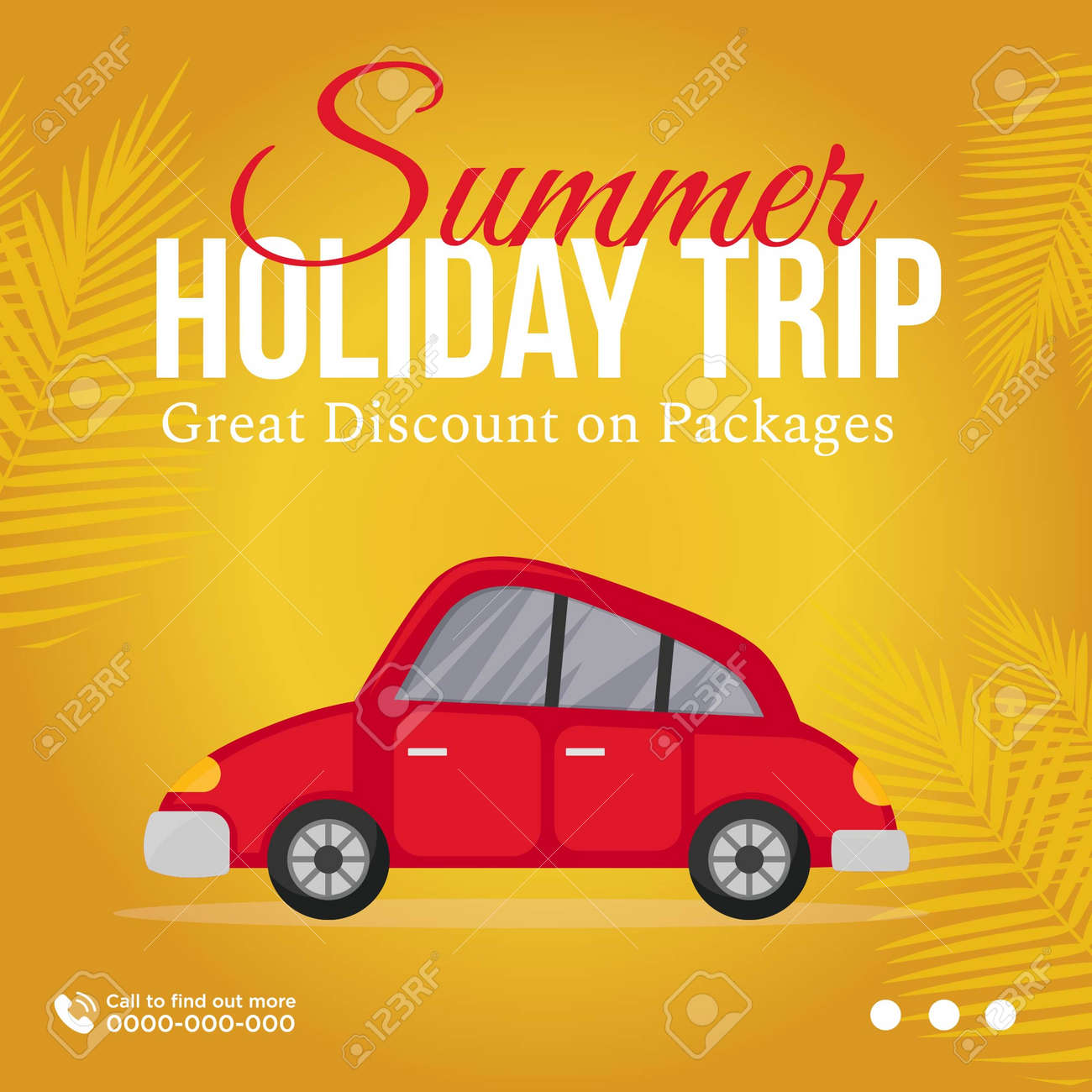Banner design of summer holiday trip great discount on packages. Vector graphic illustration. - 171677620