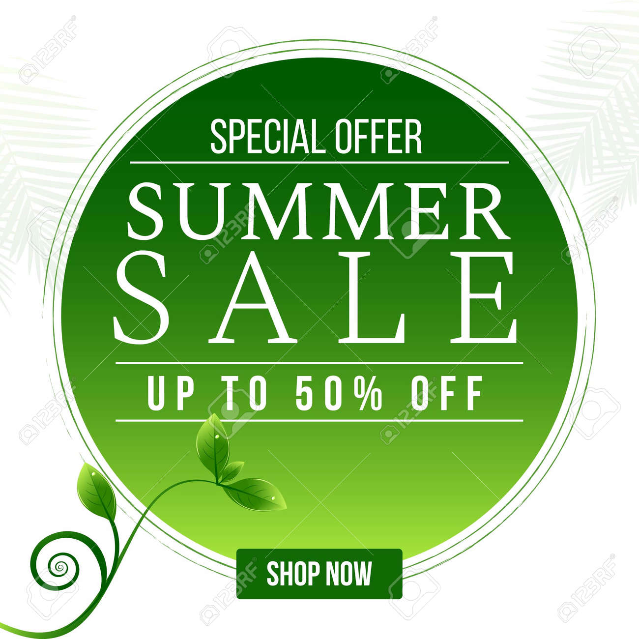 Special offer summer sale banner design template. Vector graphic illustration. - 171677622