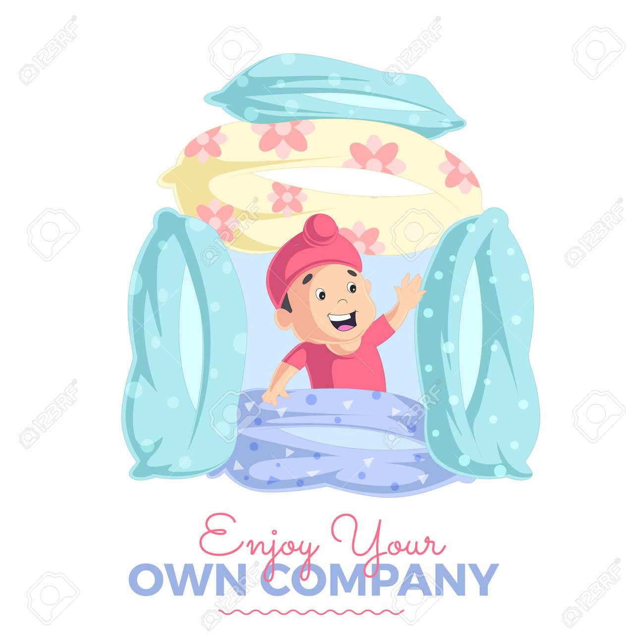 Enjoy your own company banner design template. Vector graphic illustration. - 171727319