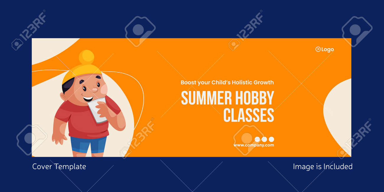 Summer hobby classes cover page design. Vector graphic illustration. - 171727465