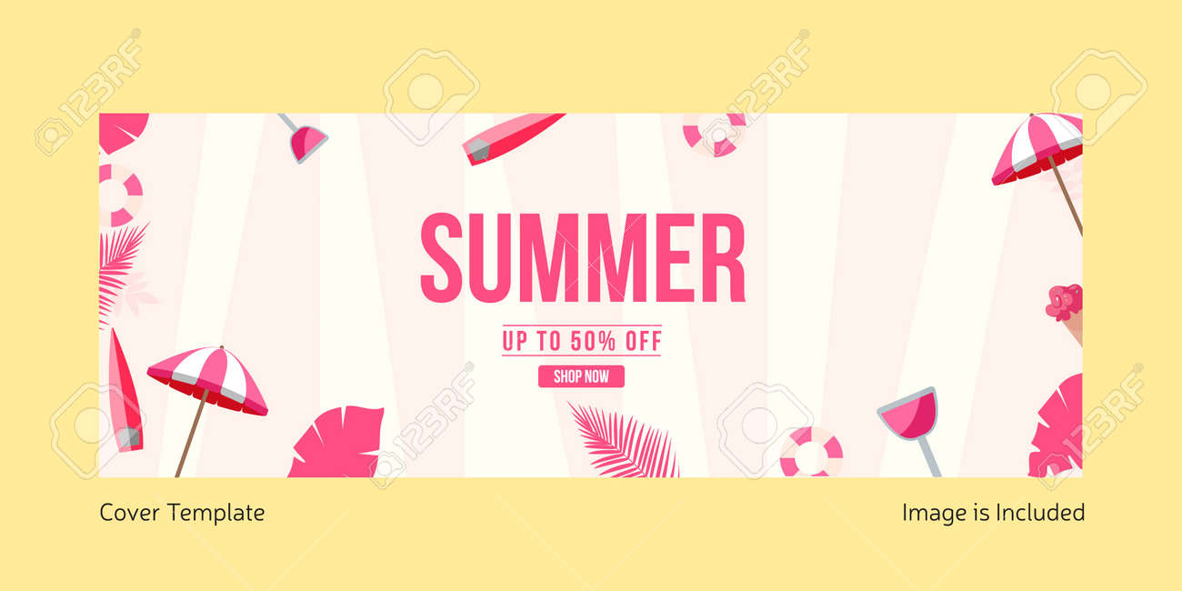 Summer sale cover page template. Vector graphic illustration. - 171727470