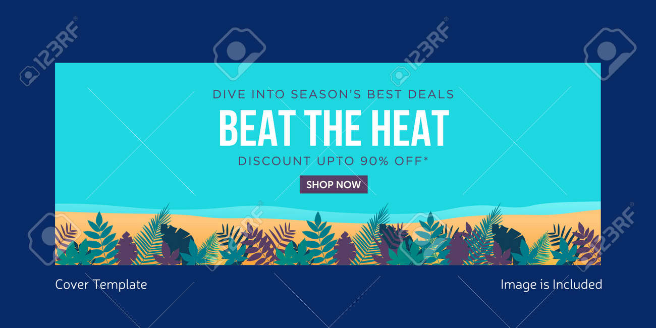 Best the heat cover page design. Vector graphic illustration. - 171727474