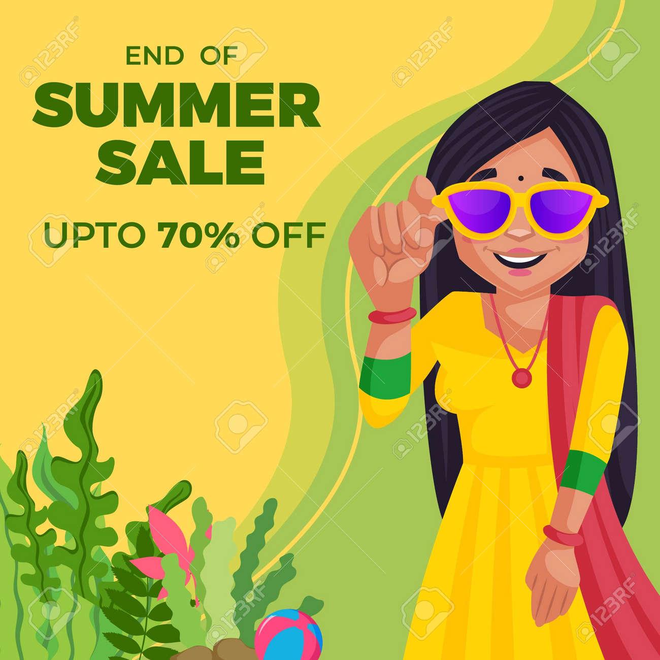 End Of Summer Sale banner design template. Vector graphic illustration. - 171725670