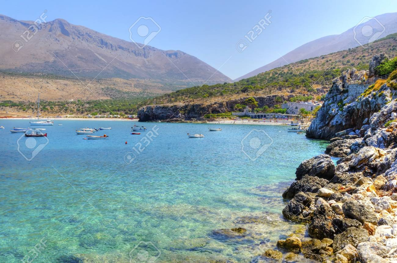 The beautiful Greek coastline with crystal clear water Stock Photo - 20051780
