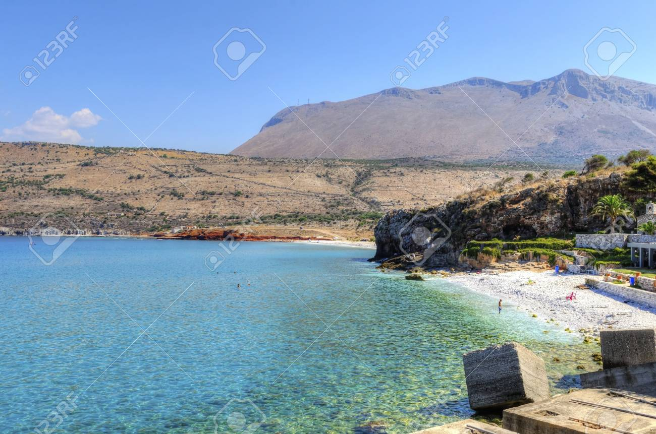The beautiful Greek coastline with crystal clear water Stock Photo - 20051673