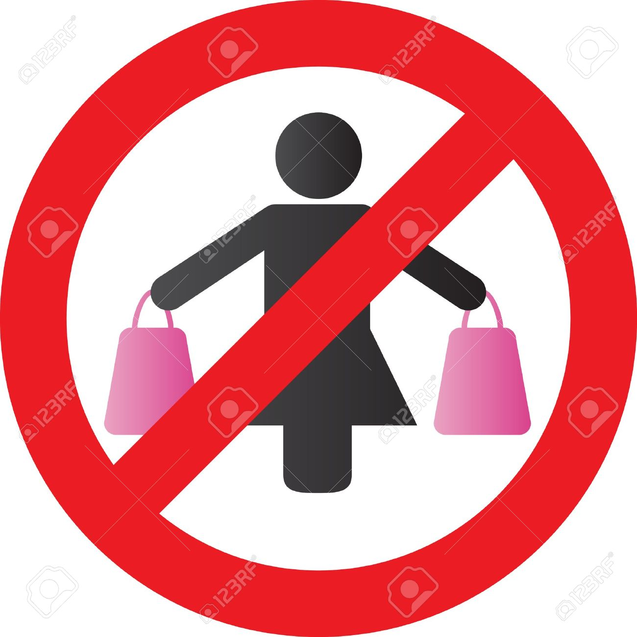 A woman carrying shopping bags in each hand Stock Vector - 20538875