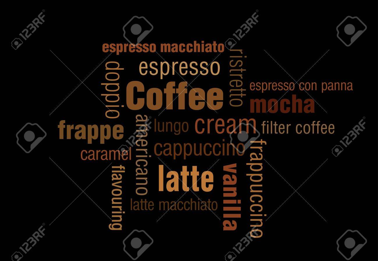 A typography illustration of coffee. Especially made for coffee lovers. Stock Vector - 20722851