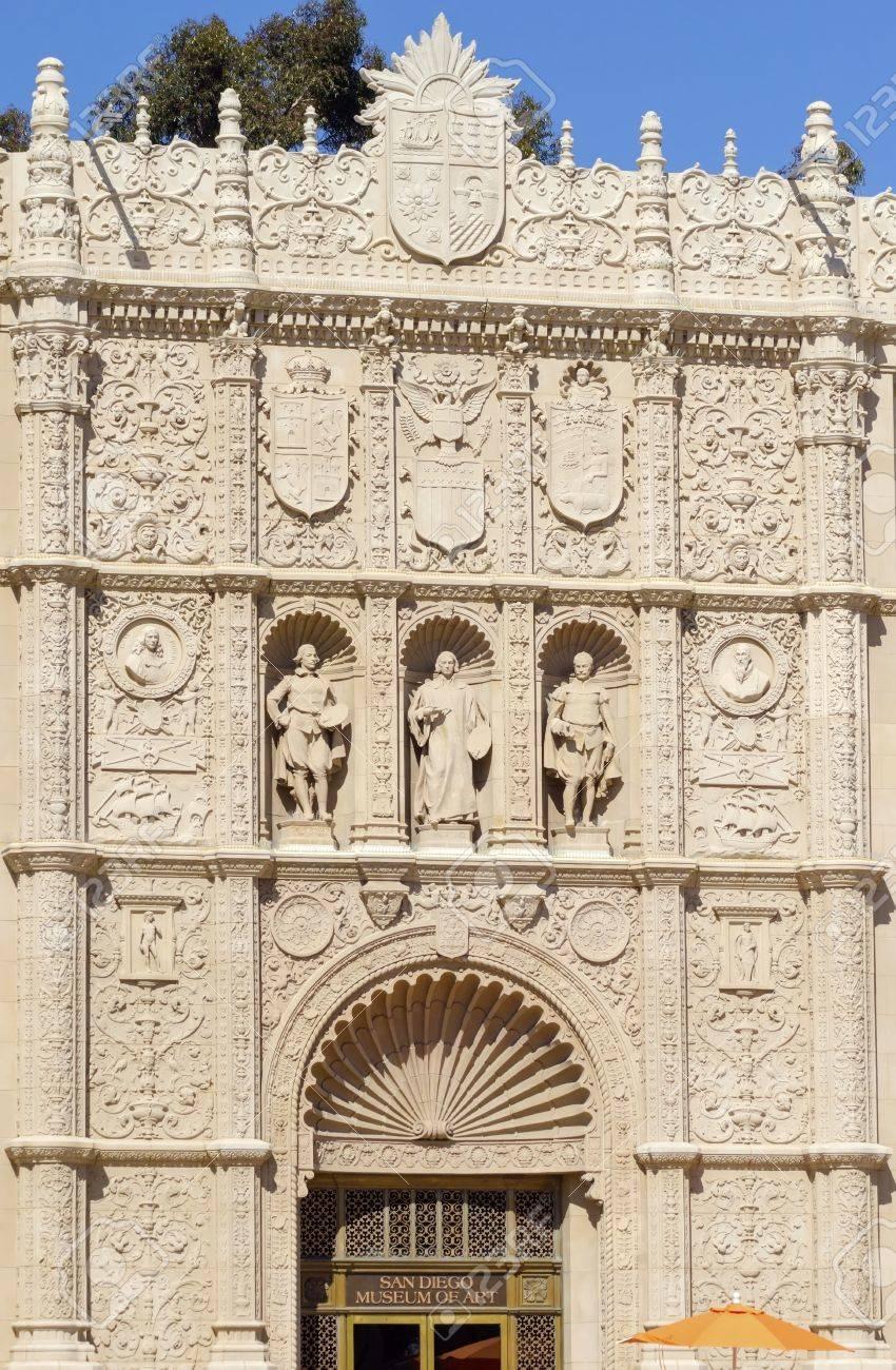 El Patio: The Facade Of The San Diego Museum Of Fine Art, In Balboa