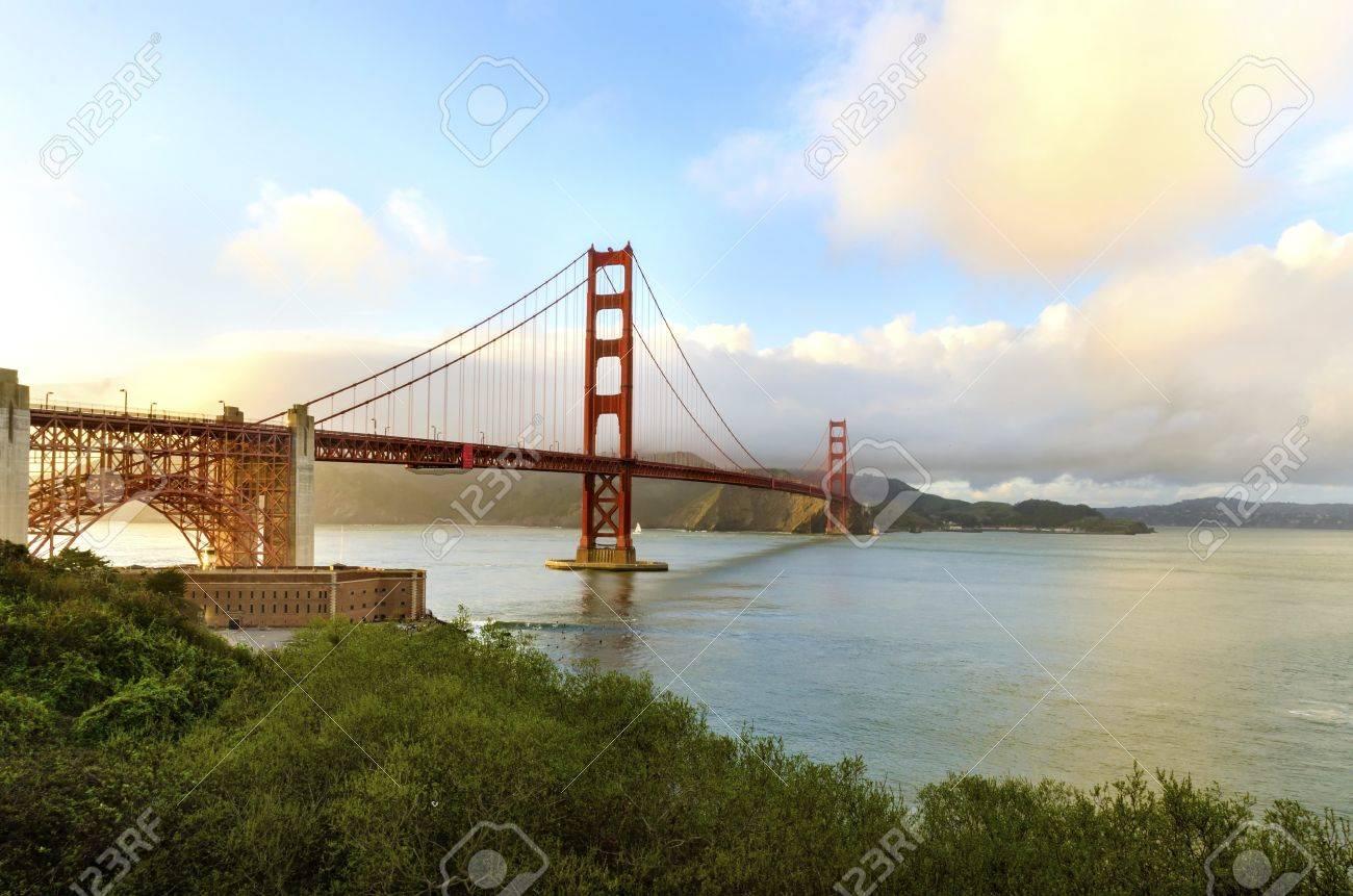 The Famous San Francisco Golden Gate Bridge In California, United ...