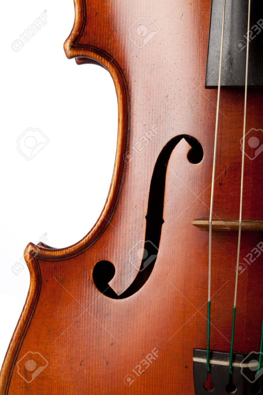 Close up on a violin isolated XXL Stock Photo - 8599453
