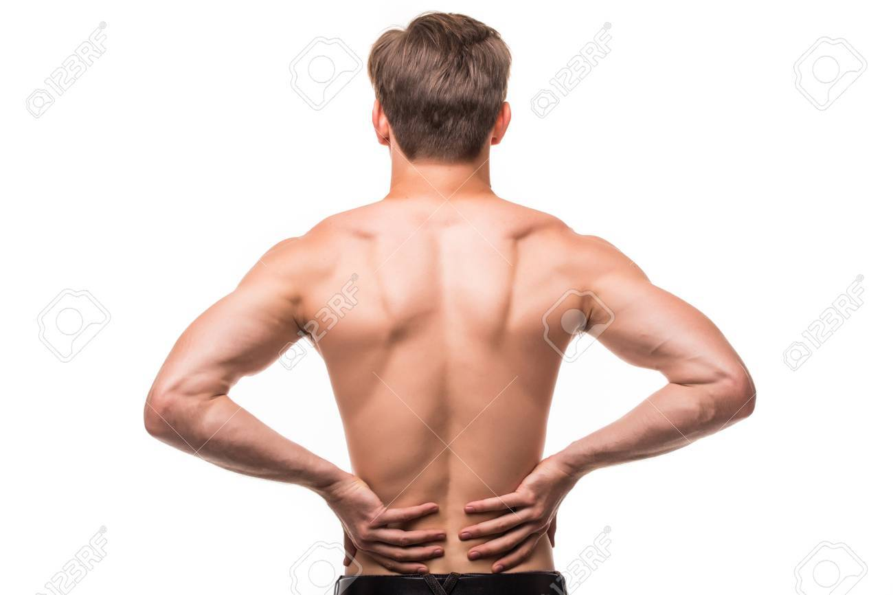 Close Up Of Man Rubbing His Painful Back Pain Relief Chiropractic Stock Photo Picture And Royalty Free Image Image 76264112