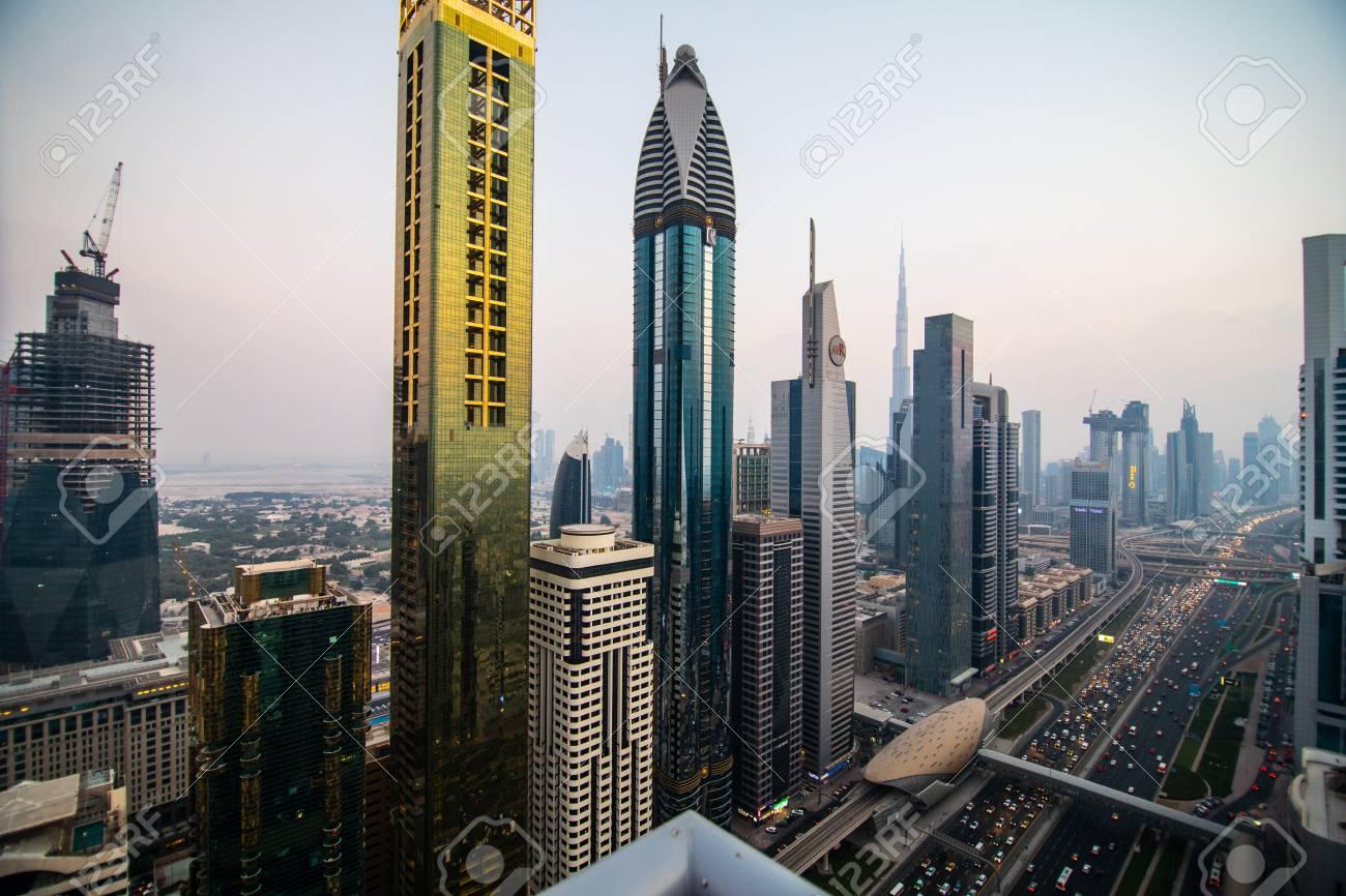Dubai Uae October 2018 Dubai Skyline And Downtown Skyscrapers