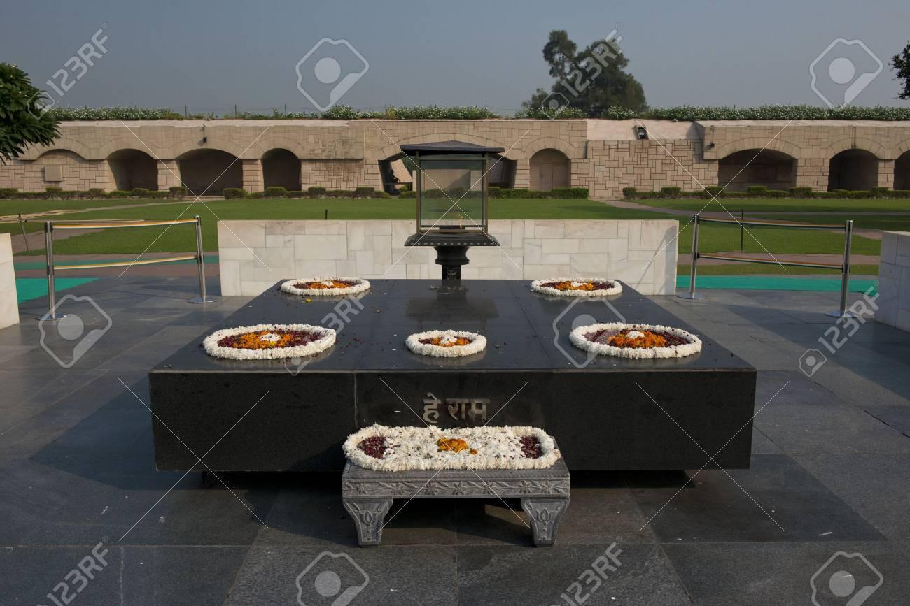 Raj ghat, the memorial of Mahatma Gandhi, in Delhi - 23636486