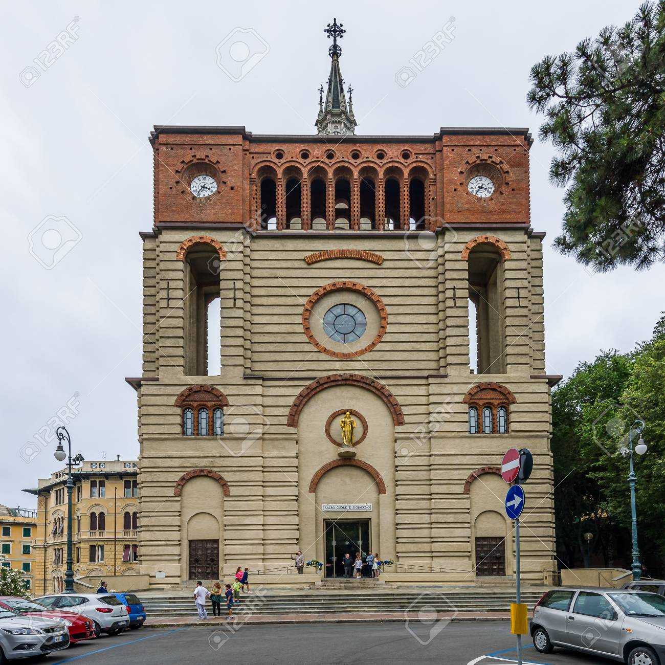 Church Of Sacro Cuore E San Giacomo In Carignano. Majestic Church ...