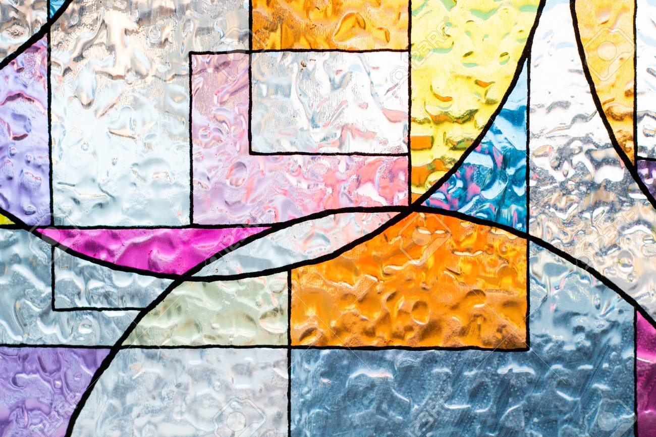 stained colorful christ glass . abstract multicolor - 105627590