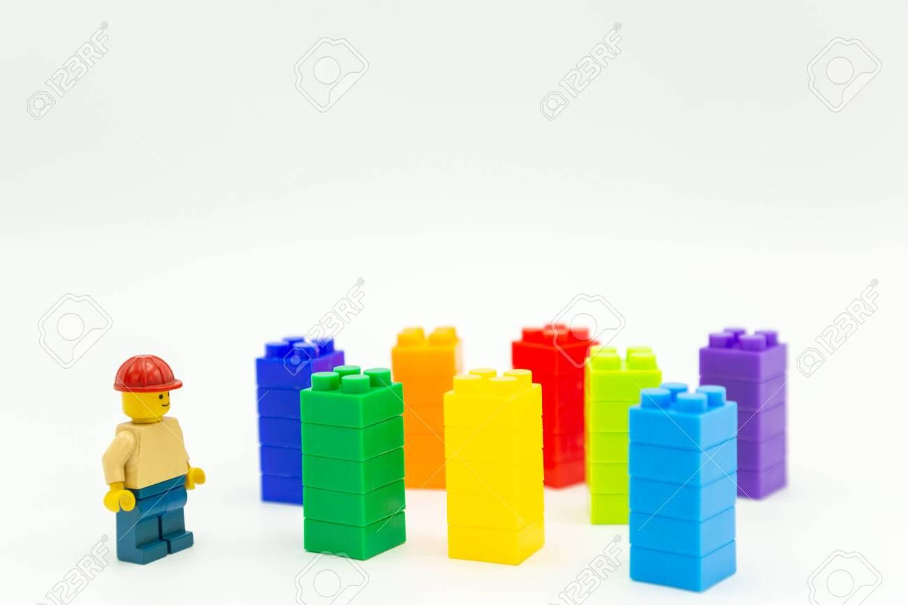 Bangkok Thailand -May,2019: engineer lego mini figures toy and