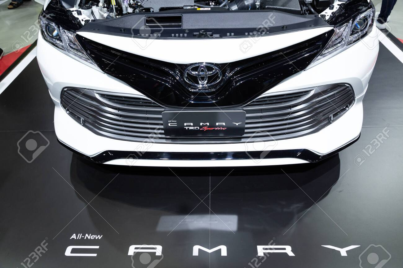 Thailand April 2019 Close Up Front View Of Toyota All New Stock Photo Picture And Royalty Free Image Image 128141827