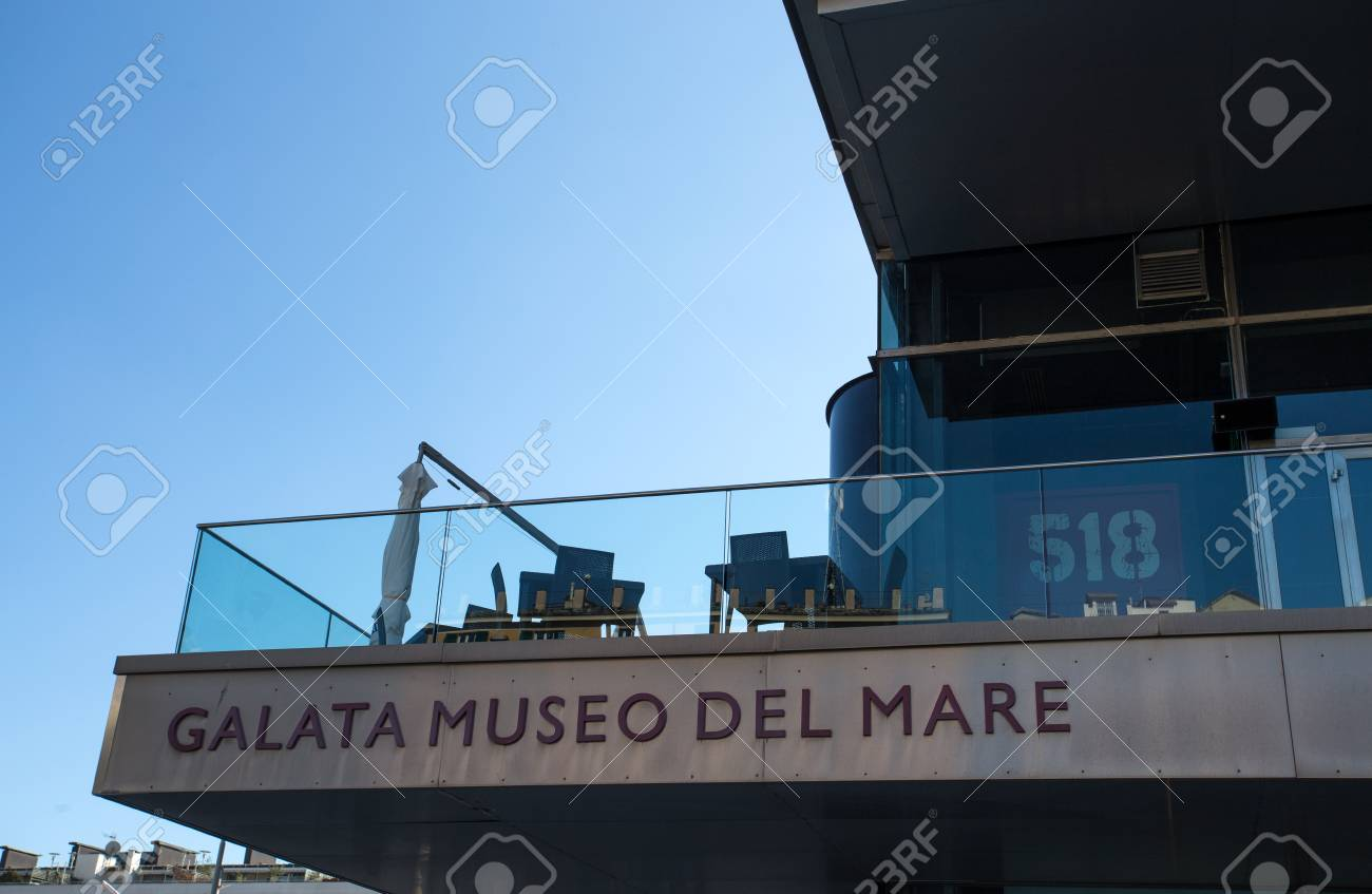Galata Museo Del Mare.Genoa Italy April 5 2018 View Of Galata Museum Of The Sea