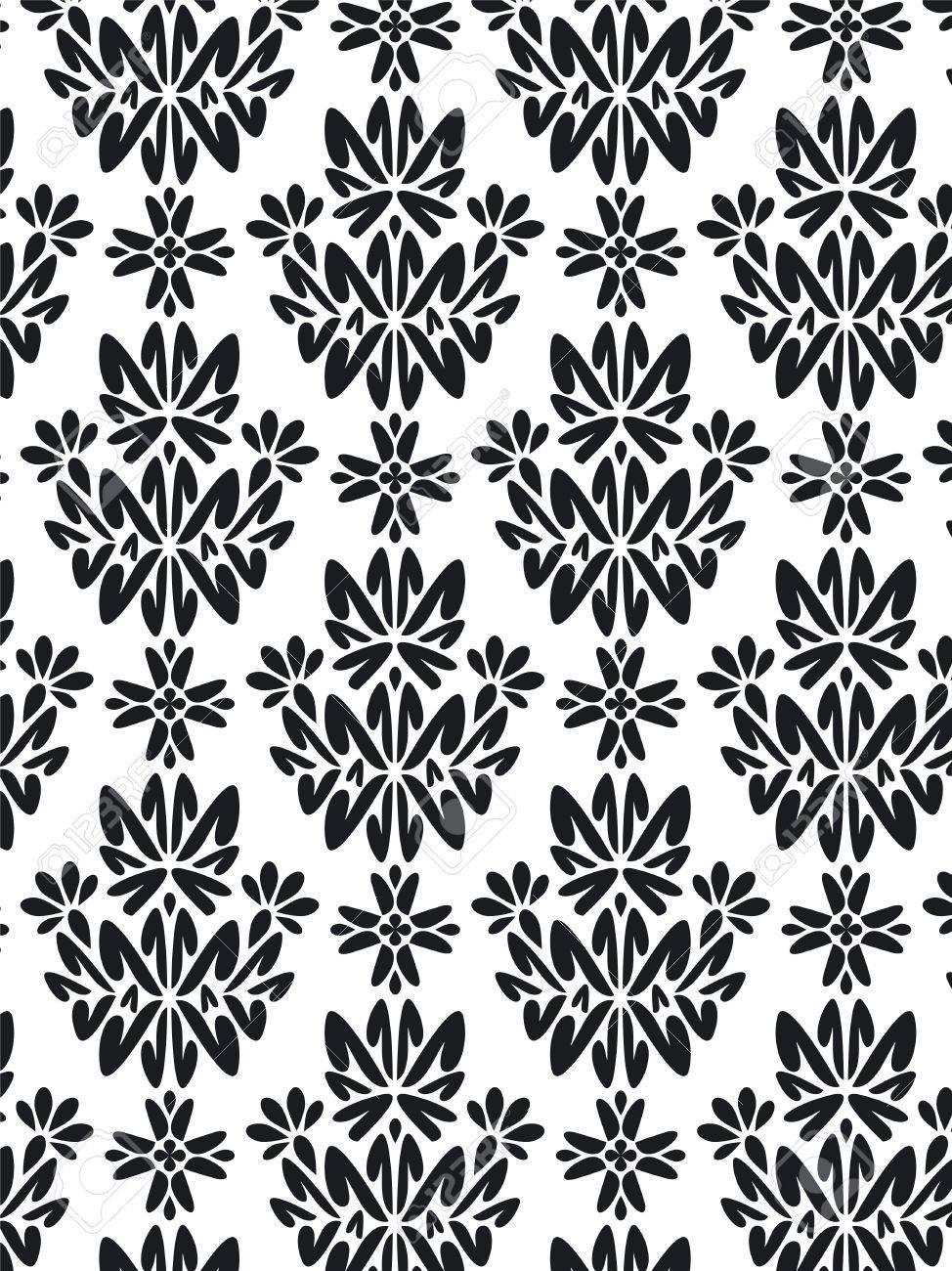 Damask Style Pattern Background - BN texture Stock Photo - 1737612