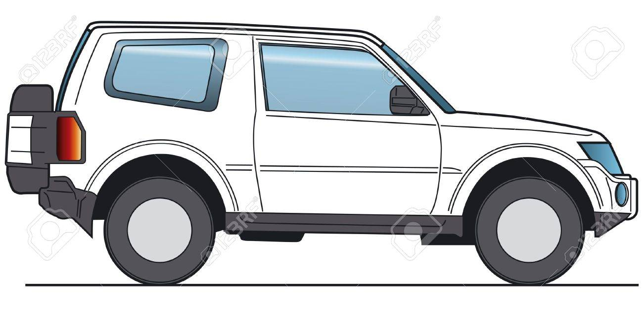 Off Road Suv Layout For Presentation Vector Stock Photo