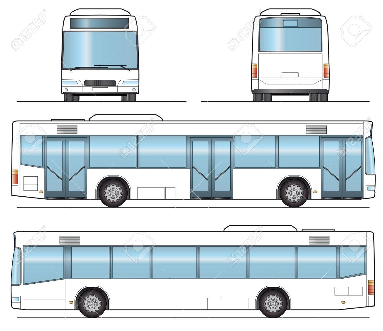 public bus template royalty free cliparts vectors and stock