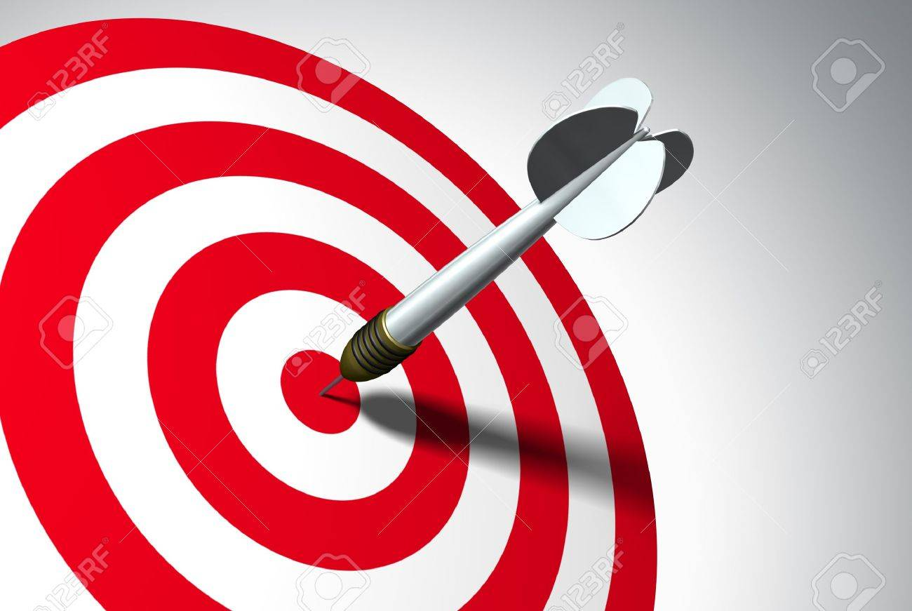 Arrow on red target - business concept Stock Photo - 8406197