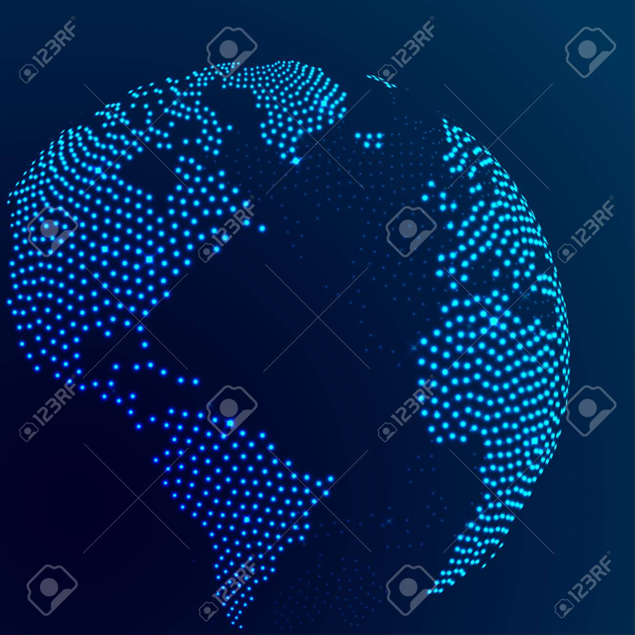 Globe earth world map abstract dotted vector background blue globe earth world map abstract dotted vector background blue wallpaper illustration stock vector 66989902 gumiabroncs Gallery