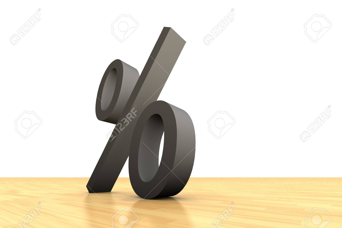 Percentage symbol on wooden ground Stock Photo - 3481829