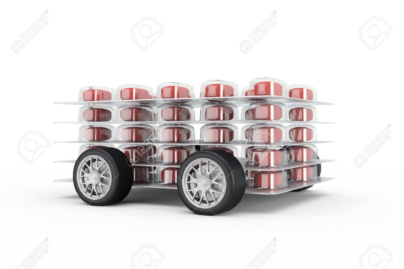 Pills fast delivery with read pills and wheels - 20480177
