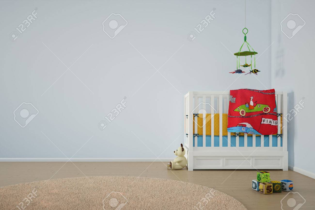 Kids play room with bed and other toys - 24921212