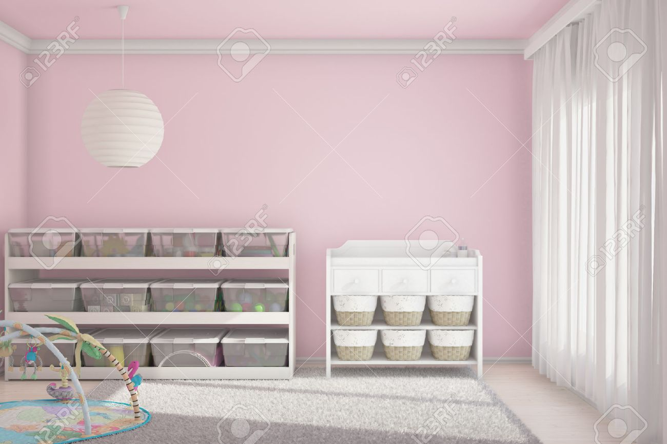 Children room with toys and small bed Stock Photo - 25087476