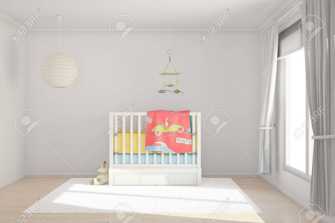 Children room with toys and small bed - 25191484
