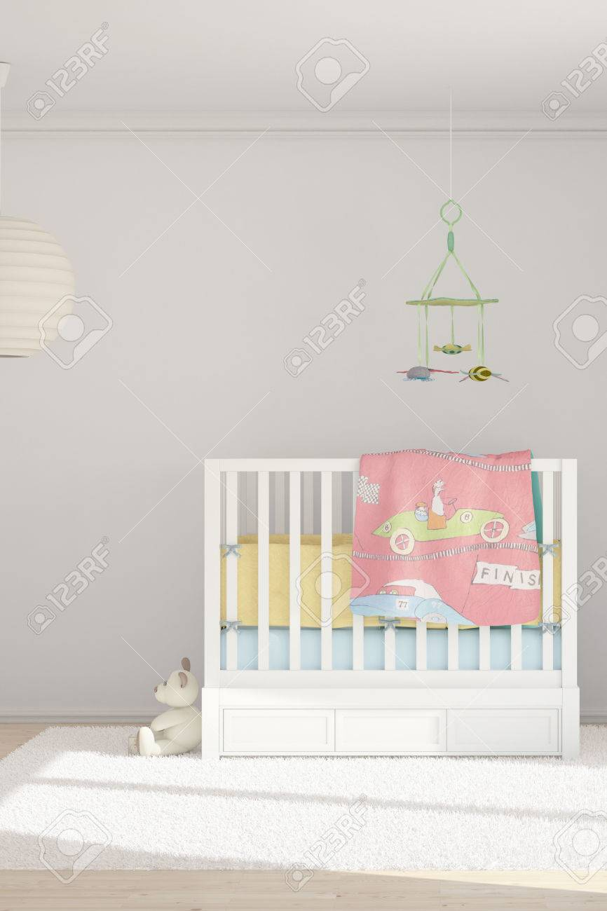 Children room with toys and small bed - 25349265