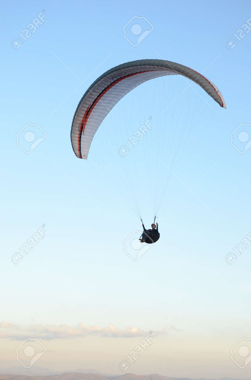 Paragliding at sun set in Topo do Mundo (translated to Top of the World) in Minas Gerais - 151596711
