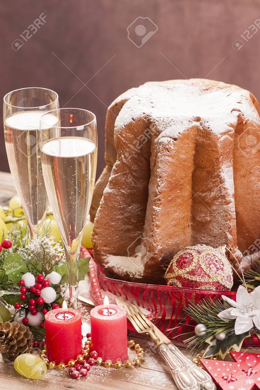 Traditional Italian Cakes Pandoro Stock Photo Picture And Royalty