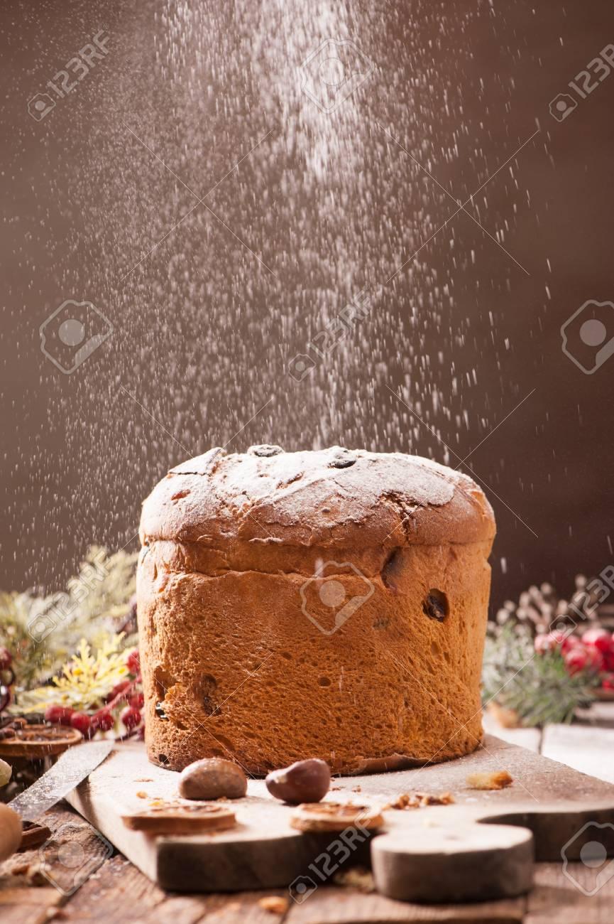 Italian Christmas Cake.Panettone Italian Christmas Cake