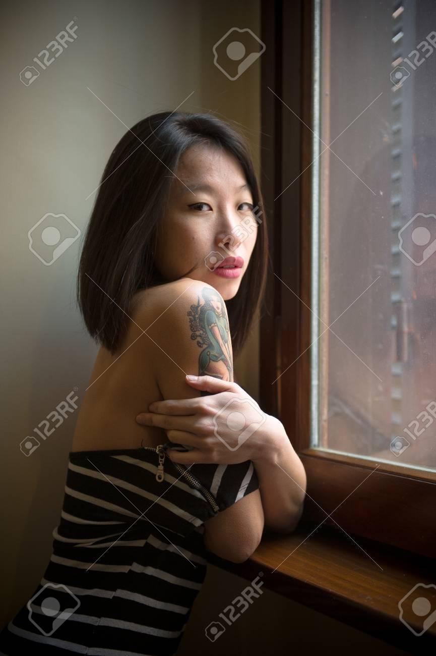 Schön Sexy Asiatisch Kamera