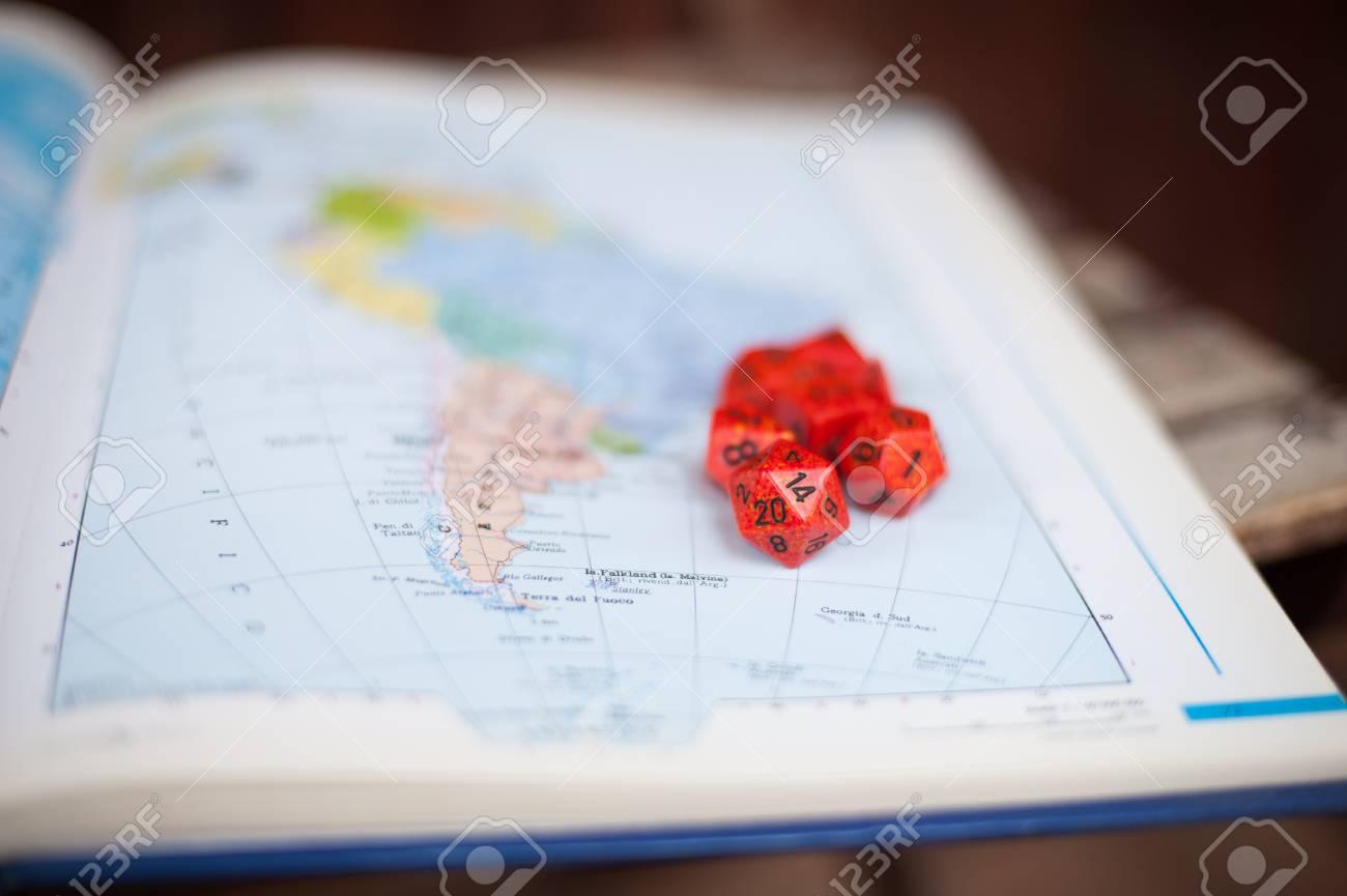 Carte Amerique Du Sud Jeu.Carte Amerique Du Sud Avec Des Des Speciaux Rouges Pour Role De Guerre Jeu De Jeu