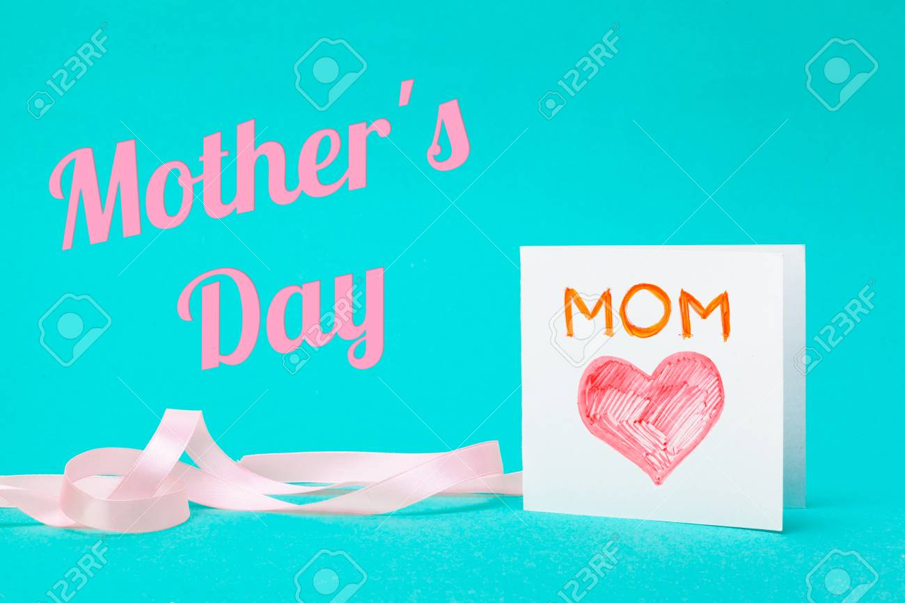 Happy Mothers Day Gift With Best Mom Ever Greeting Card Stock Photo