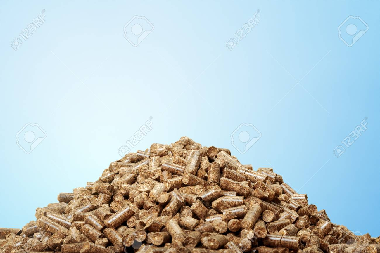 wooden pellets - 86415246