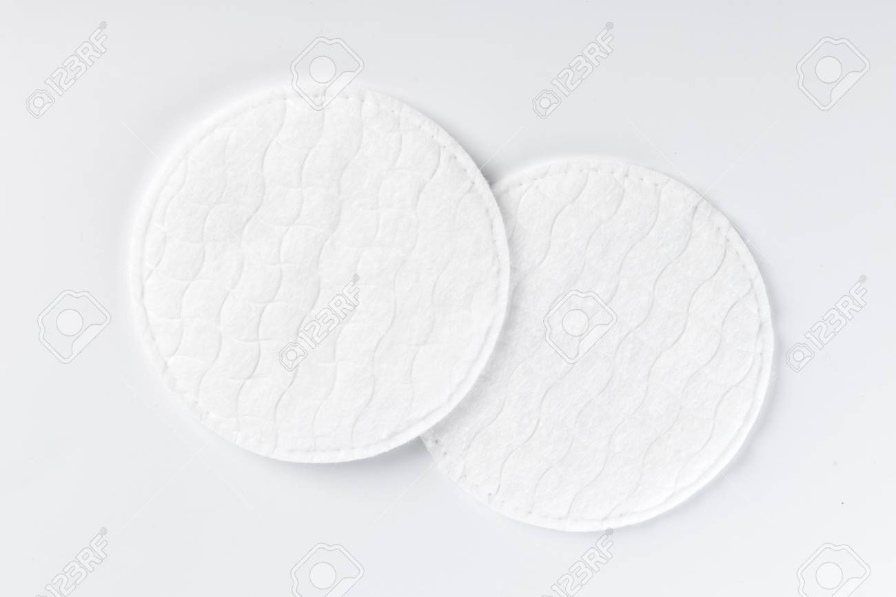 Cotton pads isolated on white background - 106695217