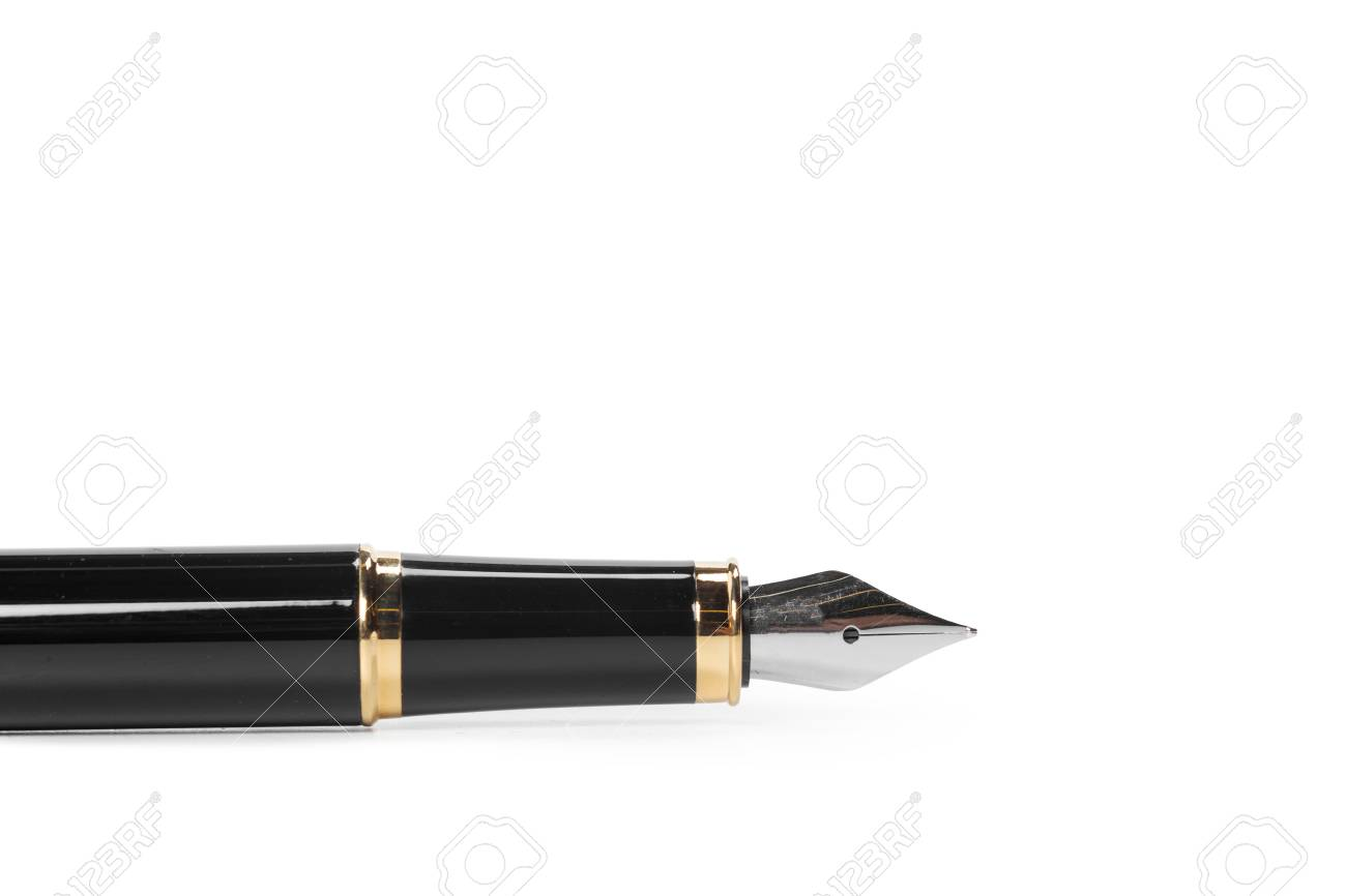 fountain pen isolated on white background - 107688154