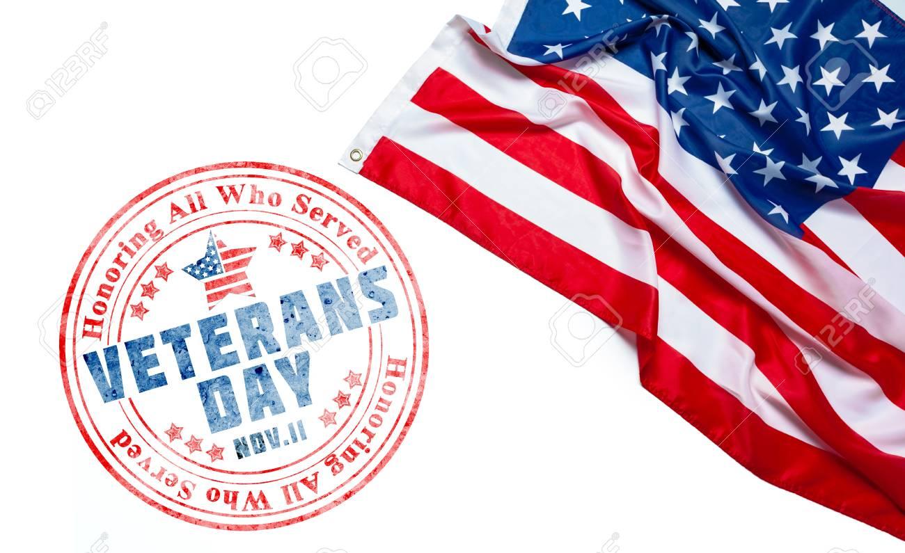composite of veterans day flag - 111064910
