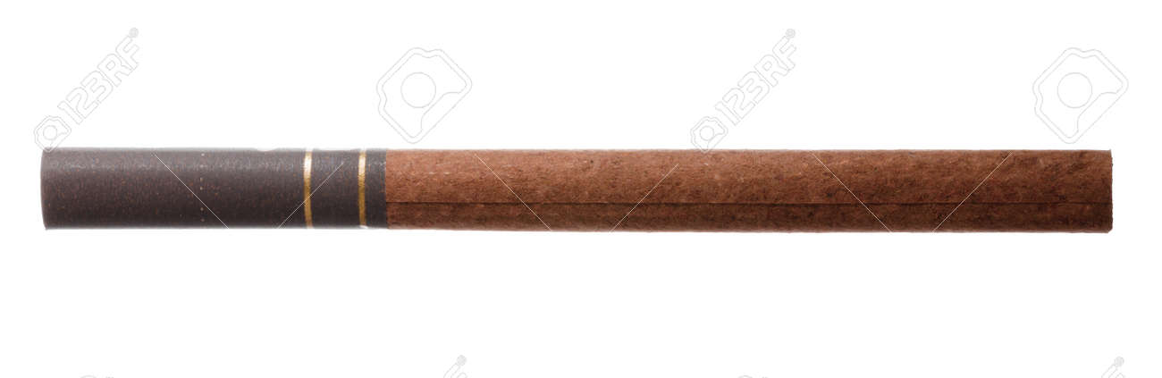 New cigarette with filter isolated on white - 157020291