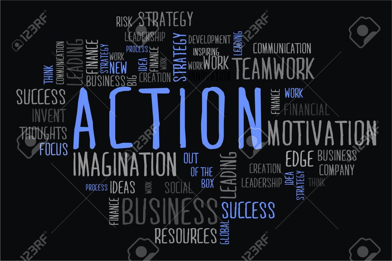 action word cloud concept in black background stock photo picture stock photo action word cloud concept in black background
