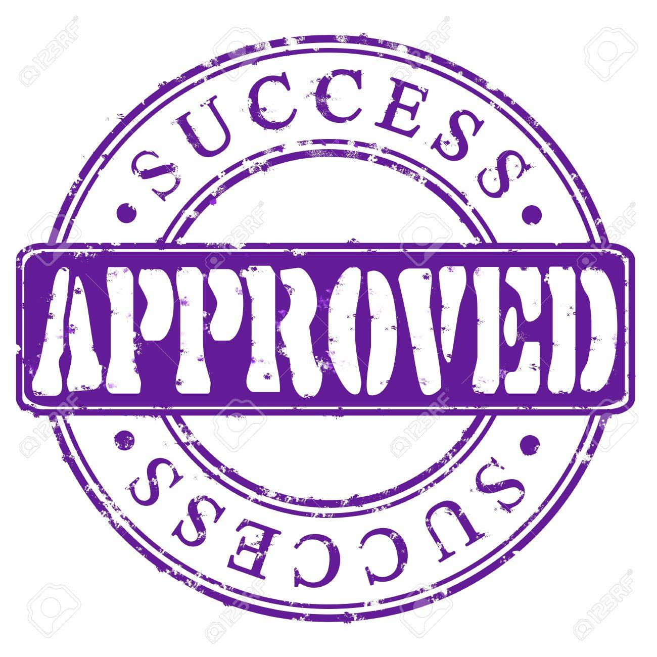 Stamp Approved success  violet Stock Photo - 17751291