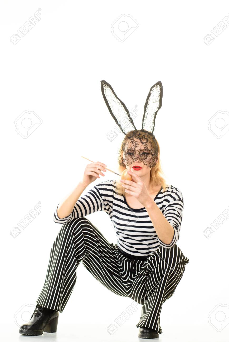 Sexy Easter Bunny Girl Sexy Girl In Rabbit Mask Sexy Girl In