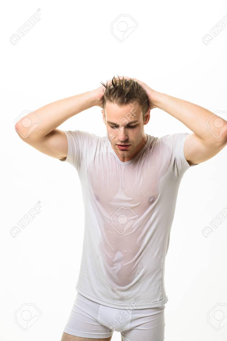 Wet White Briefs