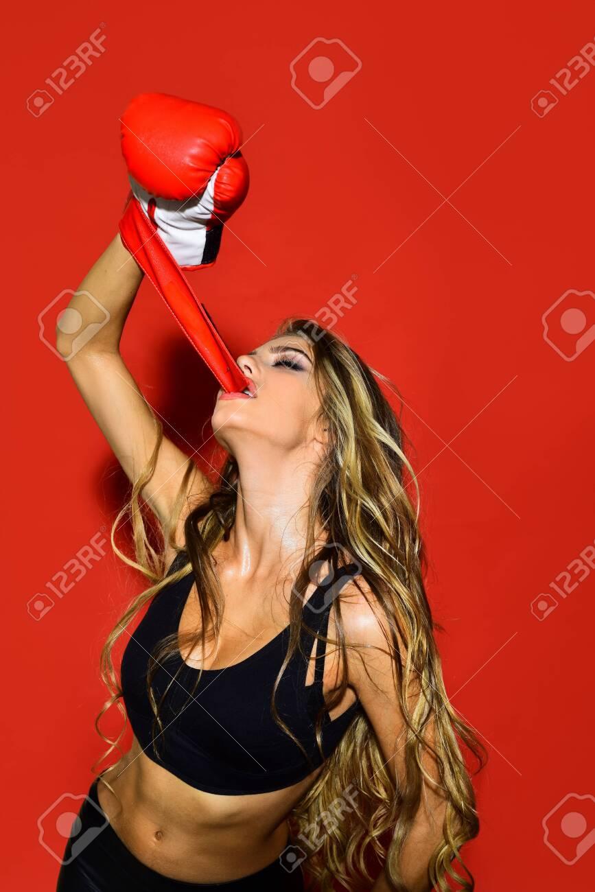 Boxing sexy Victoria's Secret