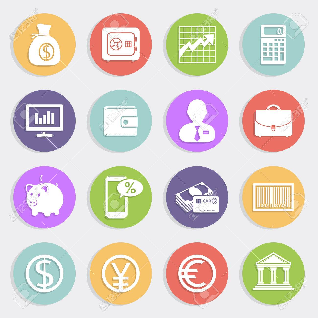 Finance and business icons set Stock Vector - 30033961
